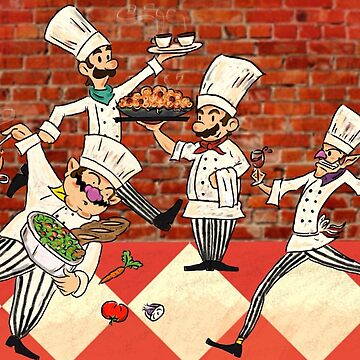 Mario Brothers, Italian Chefs by TLCampbell