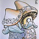 Gentlemen Mushrooms by Byron  McBride