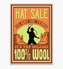 Indiana Jones - Hat Sale Photographic Print