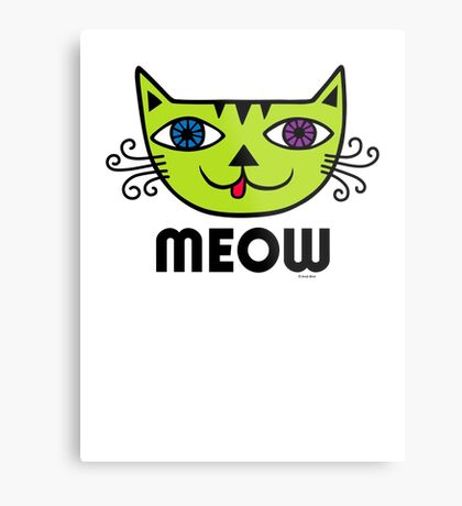 Meow Cat multi Metal Print