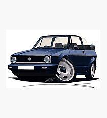 VW Golf (Mk1) Cabriolet Dark Blue Photographic Print