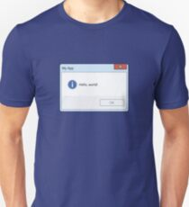 Hello World Message Box Unisex T-Shirt