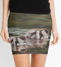 Hastening – Paradise Shelduck Ducklings - transparency Mini Skirt