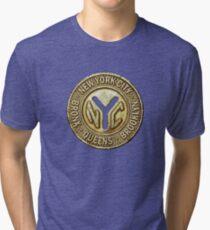 NYC Subway Token Tri-blend T-Shirt