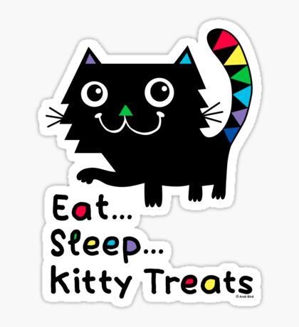Eat, Sleep, Kitty Treats  Sticker