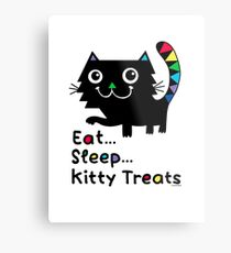 Eat, Sleep, Kitty Treats  Metal Print