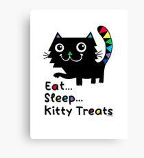 Eat, Sleep, Kitty Treats  Canvas Print