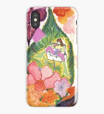 A WOMAN IN LEAVES iPhone Case