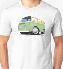 VW Bay Window Camper Van Light Green T-Shirt