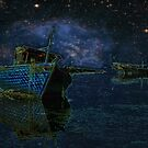 Boats Under Starry Night - Kuwait by Larry Costales
