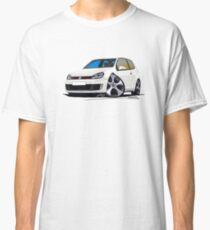 VW Golf GTi (Mk6) White Classic T-Shirt