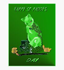 St. Paddys Day Kitty Photographic Print