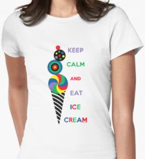 Keep Calm and Eat Ice Cream 2.2 Women's Fitted T-Shirt