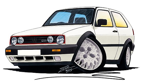 VW Golf GTi (Mk2) White by Richard Yeomans