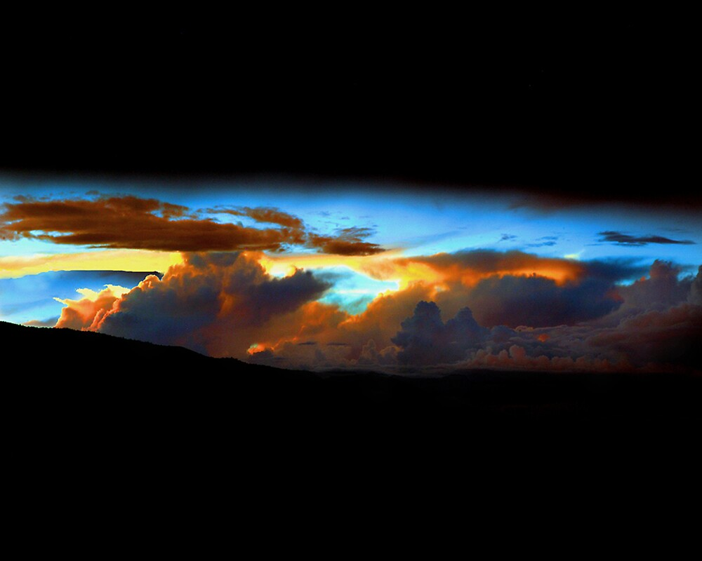 Sunset over Sandia Mountains, New Mexico by Ken  Aitchison