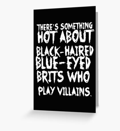 British Villains II Greeting Card