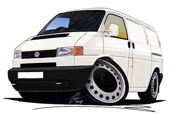 Volkswagen T4 Transporter (Bumper) White by yeomanscarart