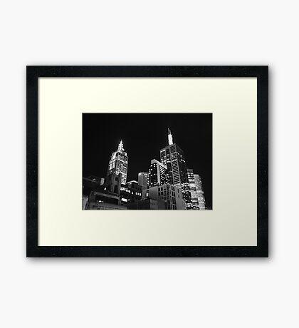 Melbourne @ night Framed Print
