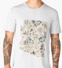 Arizona Vintage Picture Map Men's Premium T-Shirt