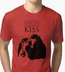 Sherlock and Molly Kiss Tri-blend T-Shirt