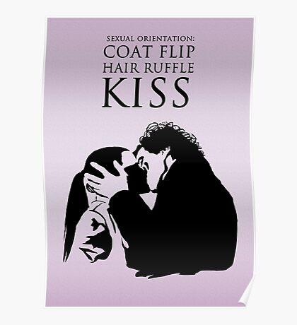 Sherlock and Molly Kiss Poster