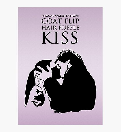 Sherlock and Molly Kiss Photographic Print