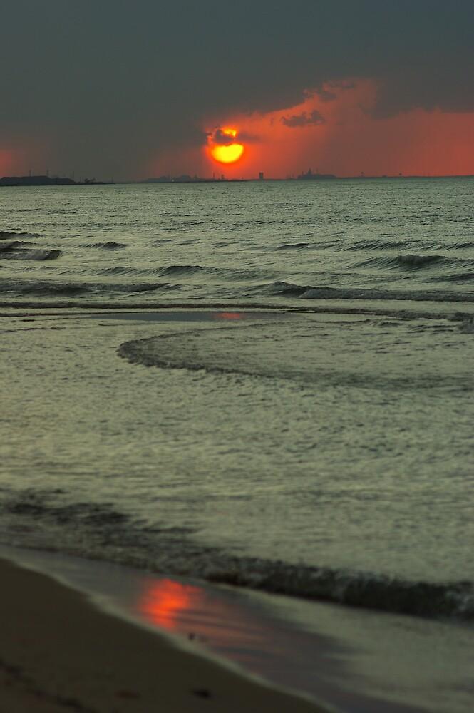 Rain Shrouded Sunset. by Michael Gatch