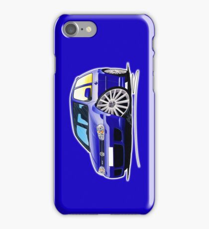 VW Golf (Mk4) R32 Blue iPhone Case/Skin