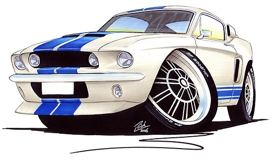 Shelby Mustang GT500 (60s) by yeomanscarart