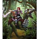Kyr'shin Yilenzo, Dinosaur Rider by EverymanGaming