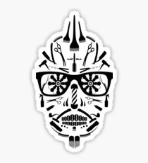 barbershop sugar skull Sticker