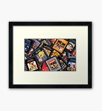 Arcade video game cartridges ROM Framed Print