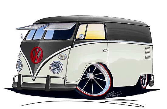 VW Splitty Panel Van (RB) by Richard Yeomans