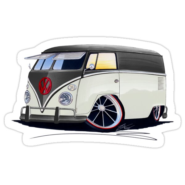 vw splitty panel van rb stickers by yeomanscarart redbubble. Black Bedroom Furniture Sets. Home Design Ideas