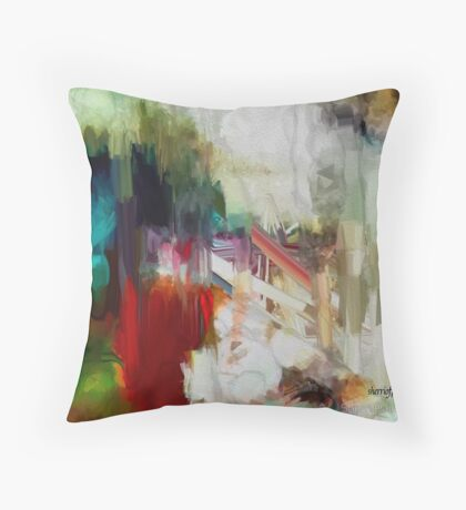 Abstract Staircase Throw Pillow
