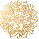 Gold Mandala by julieerindesign