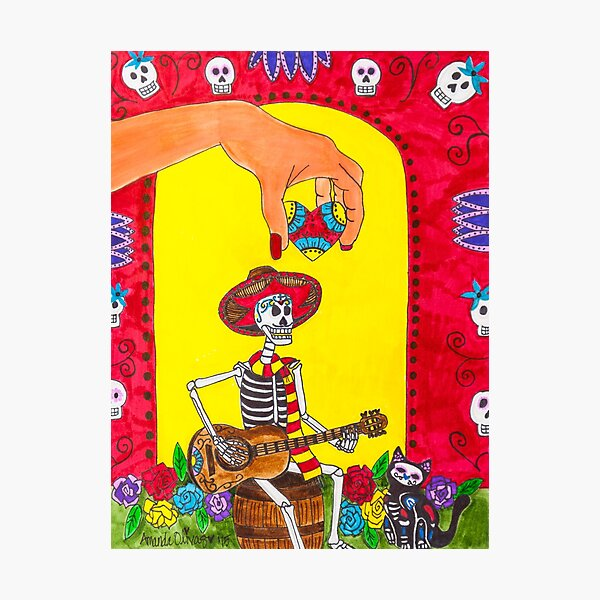 Dia de los Muertos - Song for the Soul - Day of the Dead Photographic Print