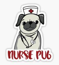 Nurse Pug, pug, dog, pet, nursing, LVN, RN, nurse practitioner, pug lovers, nursing student, nurse, nurses Sticker