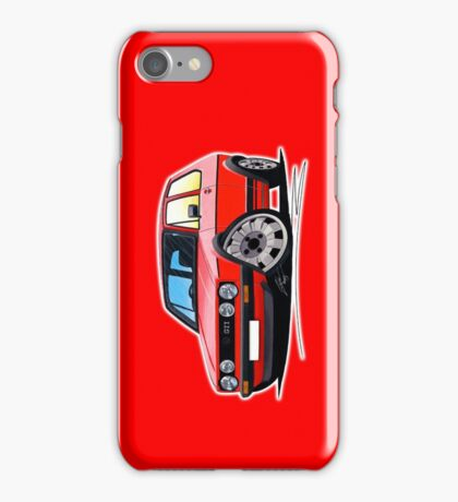 VW Golf GTi (Mk1) Red iPhone Case/Skin