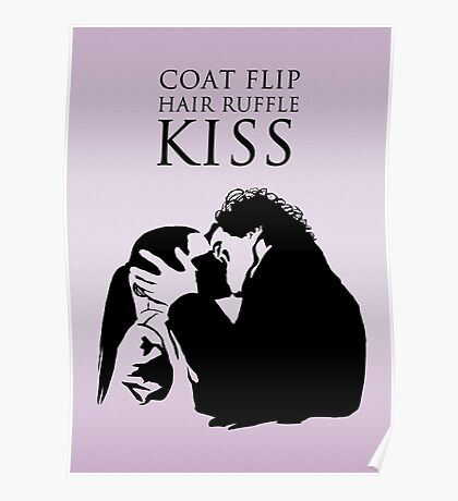 Sherlock and Molly Kiss II Poster