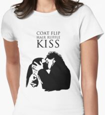 Sherlock and Molly Kiss II Women's Fitted T-Shirt