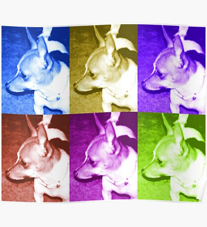 Pop Art Chihuahua  Poster