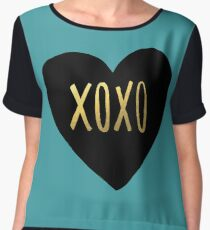 XOXO Heart Women's Chiffon Top