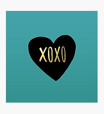 XOXO Heart Photographic Print