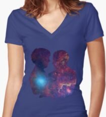 Burn Your Heart Out. Women's Fitted V-Neck T-Shirt