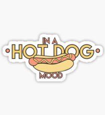 in a hot dog mood Sticker