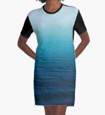 Deep Blue Graphic T-Shirt Dress