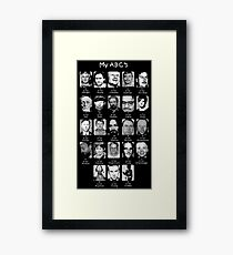 Serial Killer ABC's Framed Print