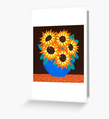 Mel's Sunflowers Greeting Card