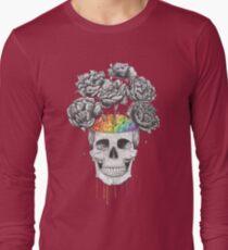Skull with rainbow brains T-Shirt
